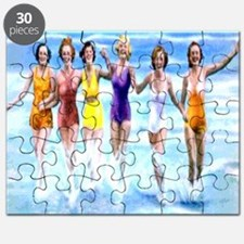 Florida Bathing Beauties Pillow Puzzle