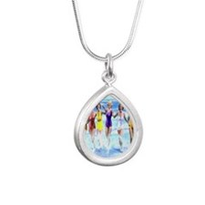 Florida Bathing Beauties Silver Teardrop Necklace