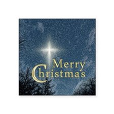 "The Bethlehem Star Square Sticker 3"" x 3"""