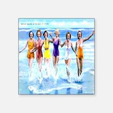 "Florida Bathing Beauties Pi Square Sticker 3"" x 3"""