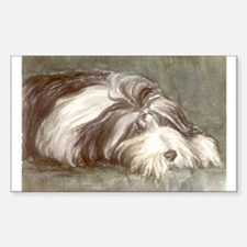 Bearded Collie Rectangle Decal