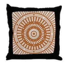 Starburst Sundial Earthtone Throw Pillow