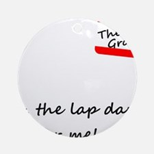 Groom Lap Dance Round Ornament