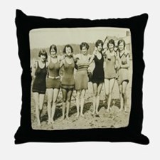 Vintage Bathing Beauties Throw Pillow