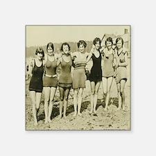 "Vintage Bathing Beauties Square Sticker 3"" x 3"""