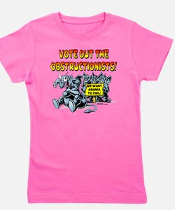 Vote out the Obstructionists! Girl's Tee