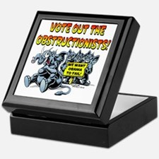 Vote out the Obstructionists! Keepsake Box