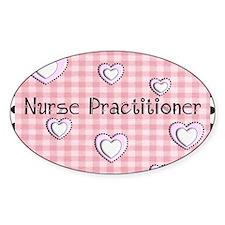 Nurse practitioner blanket Hearts p Decal