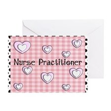 Nurse practitioner blanket Hearts pi Greeting Card