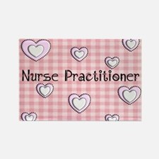 Nurse practitioner blanket Hearts Rectangle Magnet