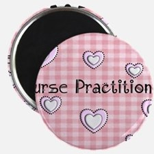 Nurse practitioner blanket Hearts pink Magnet