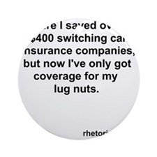 Car Insurance Round Ornament