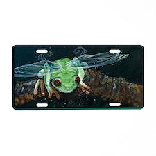 Wishing Frog II Aluminum License Plate