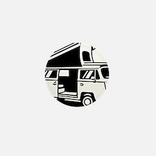 Family Camper Van Mini Button