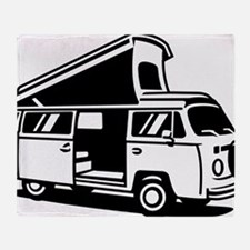 Family Camper Van Throw Blanket
