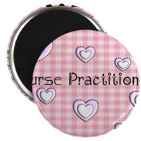Nurse practitioner blanket Hearts pink Magnet