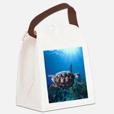 A turtle in the sun Canvas Lunch Bag
