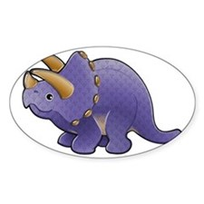 Purple Triceratops Dinosaur Decal