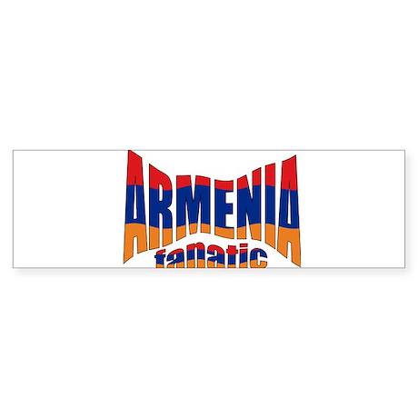 The Armenian flag fanatic Bumper Sticker