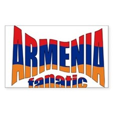 The Armenian flag fanatic Rectangle Decal