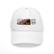 Route 66 - Burma Shave Bumper Sticker Baseball Cap