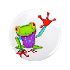 "Waving Poison Dart Frog 3.5"" Button"