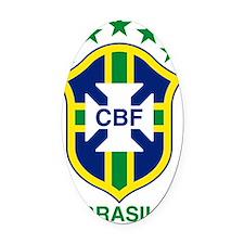brazil soccer logo Oval Car Magnet