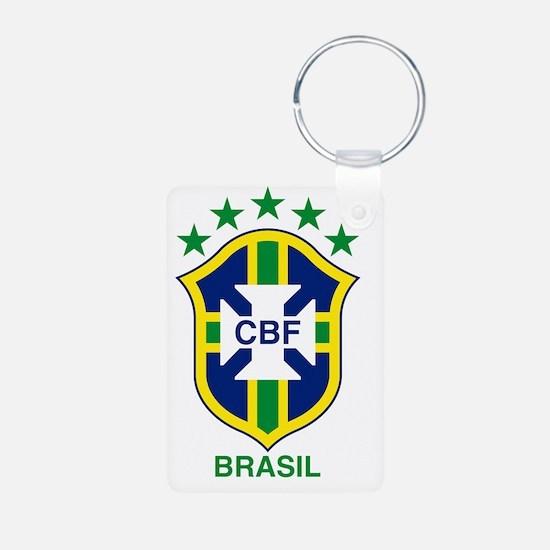 brazil soccer logo Aluminum Photo Keychain