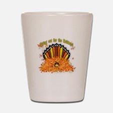 Hiding out Turkey Shot Glass