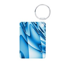 Abstract Blue Waves Patter Keychains
