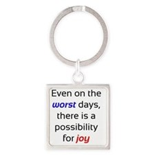 Possibility For Joy Square Keychain