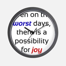 Possibility For Joy Wall Clock