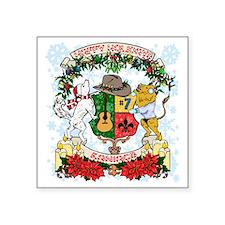 "Kaniac Holiday Crest Square Sticker 3"" x 3"""