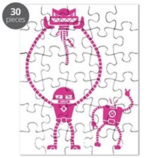 Robot Fight in Pink Puzzle