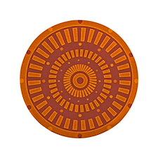 "Aztec Original Baked Sun Dial 3.5"" Button"