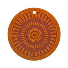 Aztec Original Baked Sun Dial Round Ornament