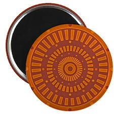 Aztec Original Baked Sun Dial Magnet