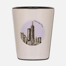 Chicago Fan Shot Glass