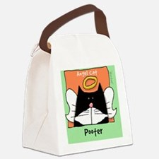 Tuxedo Cat Memorial Pooter Canvas Lunch Bag