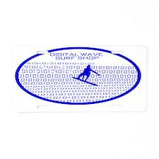 barrelwaveshorewsurferbgoth Aluminum License Plate