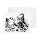 Three Pigeons Birthday Greeting Cards (Package of