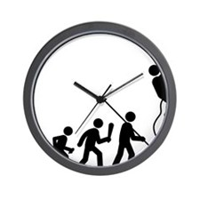Abseiling-C Wall Clock