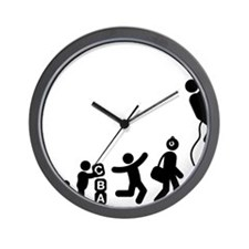 Abseiling-E Wall Clock