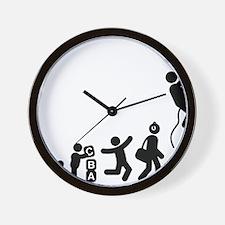 Abseiling-E Wall Clock