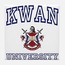 KWAN University Tile Coaster