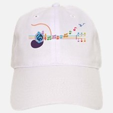 neon-guit-notes-T Baseball Baseball Cap