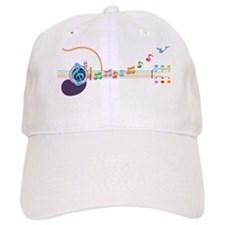 neon-guit-notes-T Baseball Cap