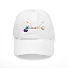 neon-guit-notes-T Baseball Cap