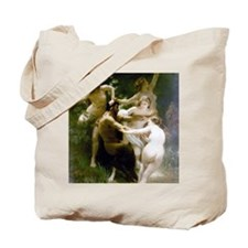 William-Adolphe Bouguereau Nymphs and Sat Tote Bag