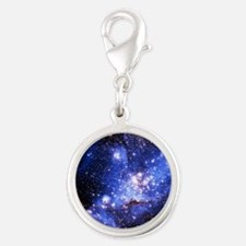 Magellanic Clouds (High Res) Silver Round Charm